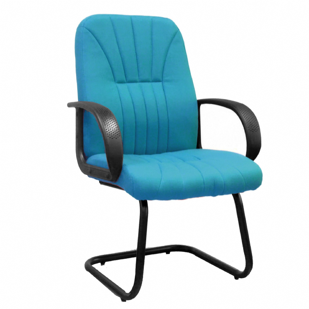 Pluto Cantilever Framed Meeting Chair with Fixed Arms. Choice of Colours. Eliza Tinsley